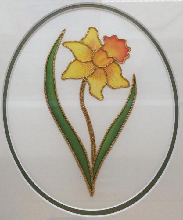 Silk Painted & Goldwork Daffodil Kit