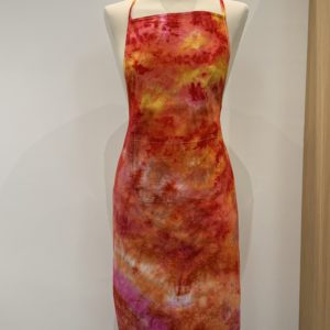 Hand dyed cotton apron