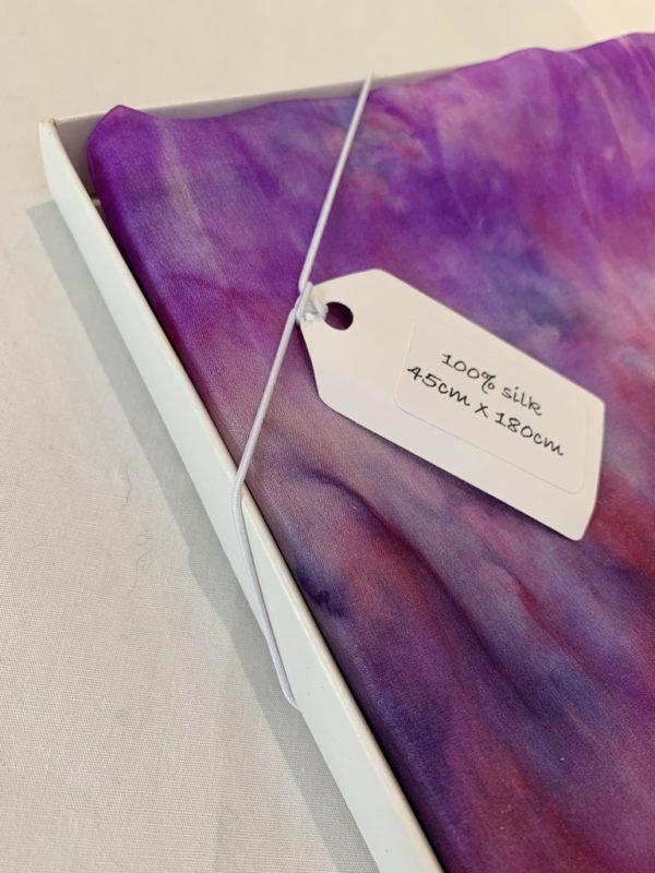 Long, Silk Habotai Scarf: 180cm x 45cm