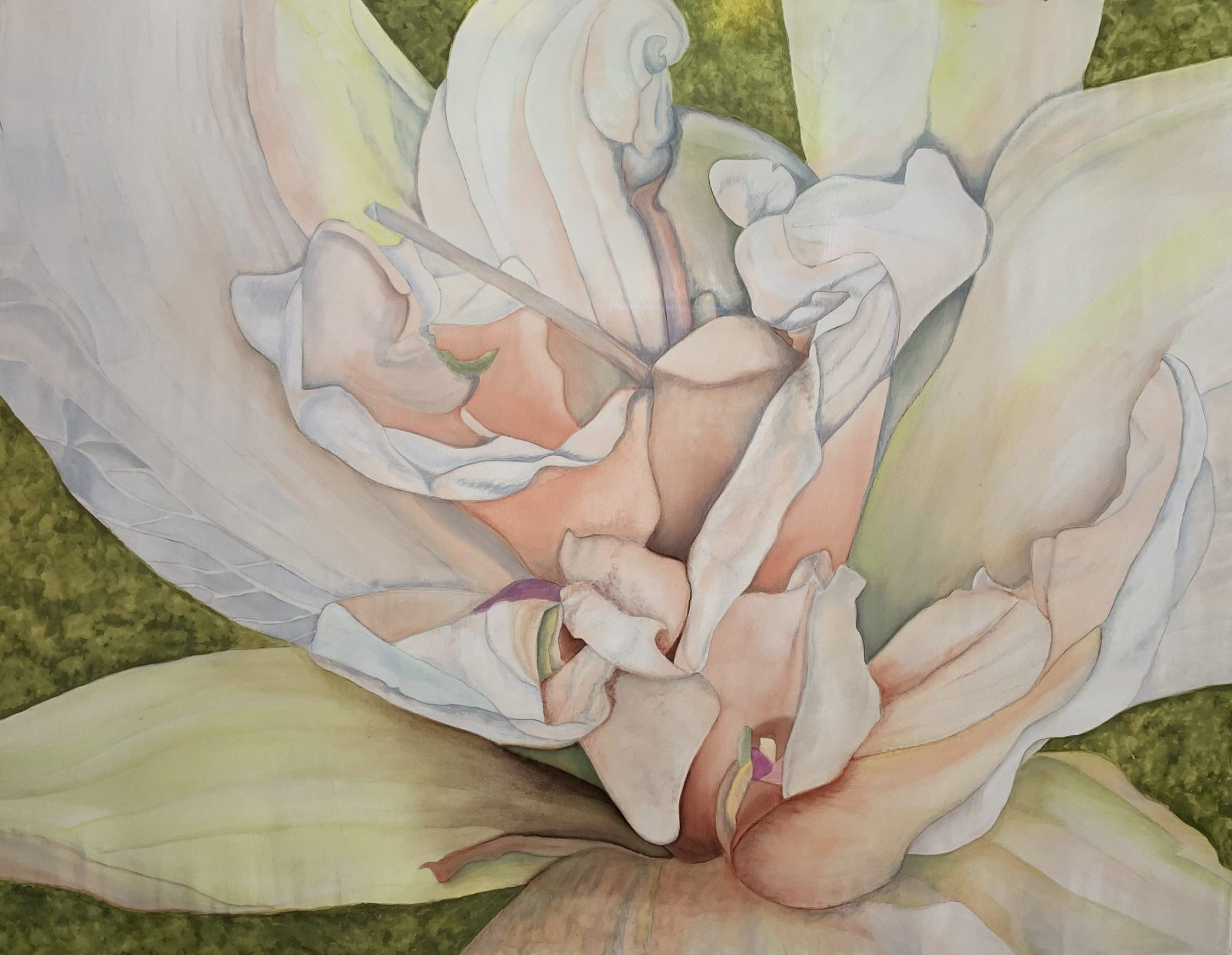 Silk painted lily using Magic Size